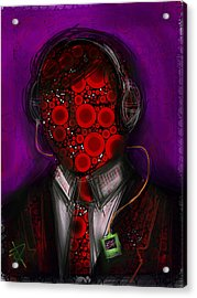 Music Lover Acrylic Print by Russell Pierce