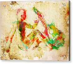 Music Man Acrylic Print by Nikki Marie Smith
