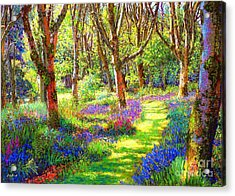 Music Of Light, Bluebell Woods Acrylic Print by Jane Small