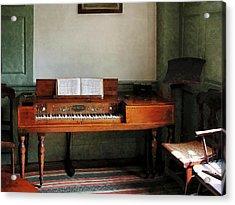 Music Room With Piano Acrylic Print by Susan Savad