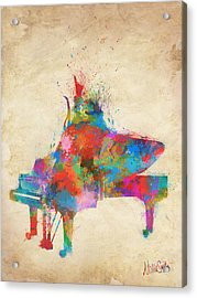 Music Strikes Fire From The Heart Acrylic Print by Nikki Marie Smith