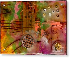 Musical Notes Acrylic Print by Angela L Walker