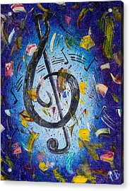 Musical Party Acrylic Print by Paul Bartoszek