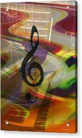 Musical Waves Acrylic Print by Linda Sannuti