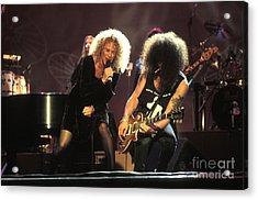 Musicians Carol King And Slash Acrylic Print by Concert Photos