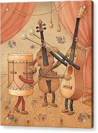 Musicians Acrylic Print by Kestutis Kasparavicius