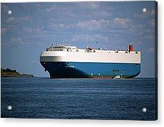 Mv Marvelous Ace Inbound Port Of Baltimore Acrylic Print by Wayne Higgs