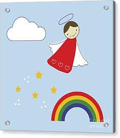 Over The Rainbow Acrylic Print by Kathrin Legg