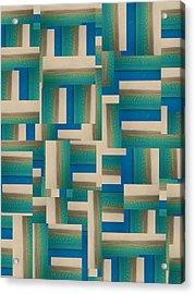 My Coastal Colors Harmony Inspire Your Home Acrylic Print by Betsy Knapp