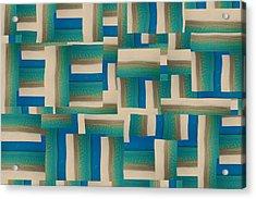 My Coastal Colors Harmony Wave Acrylic Print by Betsy Knapp