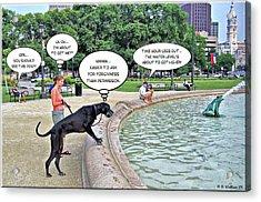 My Dog Tiny Acrylic Print by Brian Wallace