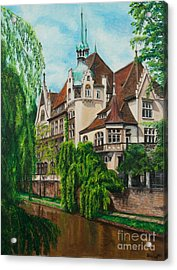 My Dream House Acrylic Print by Charlotte Blanchard