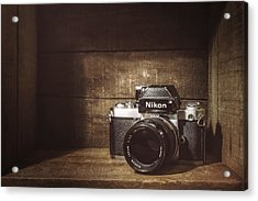 My First Nikon Camera Acrylic Print by Scott Norris