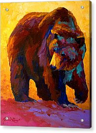 My Fish - Grizzly Bear Acrylic Print by Marion Rose