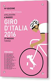 My Giro Ditalia Minimal Poster 2016 Acrylic Print by Chungkong Art