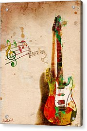 My Guitar Can Sing Acrylic Print by Nikki Smith
