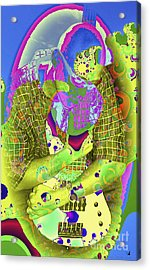 My Guitar Acrylic Print by Ginette Callaway