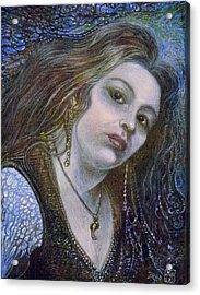 My Mermaid Christan Acrylic Print by Otto Rapp