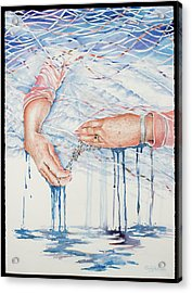 My Mother's Hands Acrylic Print by Carolyn Coffey Wallace