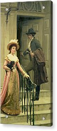 My Next Door Neighbor Acrylic Print by Edmund Blair Leighton