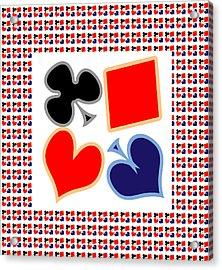 My Poker Room Decorations  Heart Spade Clubs Diamond Card Games Collection Acrylic Print by Navin Joshi