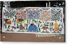 My Village 2005 Acrylic Print by Ram Singh Urveti