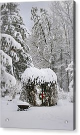 My Winter Garden 1 Acrylic Print by Lori Deiter