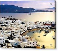 Mykonos Greece Acrylic Print by Dean Wittle