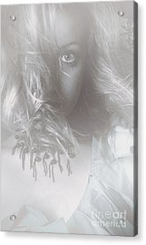 Mysterious Fine Art Fantasy Woman In Forest Mist Acrylic Print by Jorgo Photography - Wall Art Gallery
