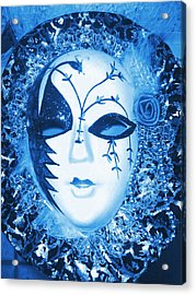 Mysterious Mask Acrylic Print by Anne-Elizabeth Whiteway