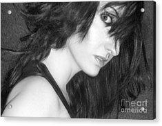 Mystery - Self Portrait Acrylic Print by Jaeda DeWalt