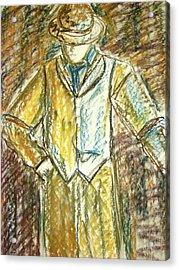 Mystery Man Acrylic Print by Cathie Richardson