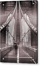 Mystery Man Of Brooklyn Acrylic Print by Az Jackson