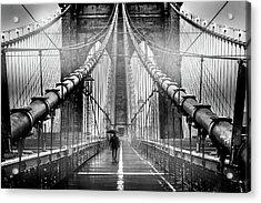 Mystery Manhattan Acrylic Print by Az Jackson