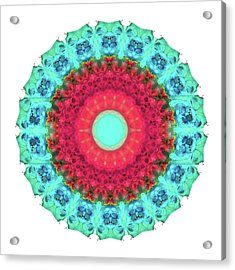 Mystic Circle Mandala - Sharon Cummings  Acrylic Print by Sharon Cummings