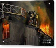 Mystic Fire Acrylic Print by Paul Walsh