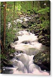 Mystic River Acrylic Print by Marty Koch