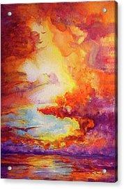 Mystical Sunset Acrylic Print by Estela Robles