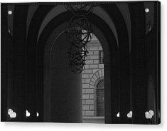 N Y C Lighted Arch Acrylic Print by Rob Hans