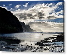 Na Pali Coast Kauai Hawaii Acrylic Print by Brendan Reals