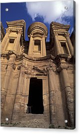Nabataean Traders Stand In The Doorway Acrylic Print by Richard Nowitz