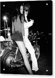 Nancy Hadseii Won A Hot Pants Beauty Acrylic Print by Everett