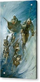 Nansen Conqueror Of The Arctic Ice Acrylic Print by James Edwin McConnell