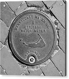 Nantucket Water Meter Cover Acrylic Print by Charles Harden