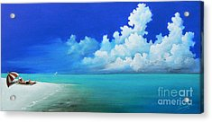 Nap On The Beach Acrylic Print by Susi Galloway