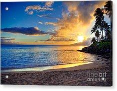 Napili Bay Maui Acrylic Print by Kelly Wade