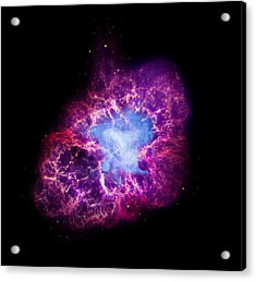 Nasa's Great Observatory View Of The Crab Nebula Acrylic Print by Space Art Pictures