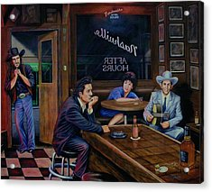 Nashville After Hours Acrylic Print by Antonio F Branco
