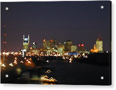 Nashville At Sixty Five Mph Acrylic Print by Mark Currier