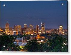 Nashville By Night 2 Acrylic Print by Douglas Barnett